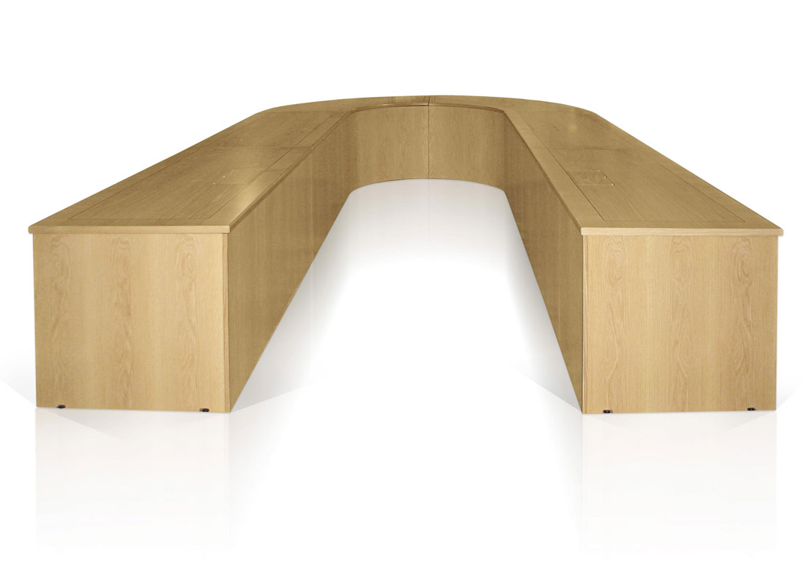 EBORCRAFT CREATES BESPOKE U-SHAPED MEETING TABLE TO MAXIMISE SEATING SPACE